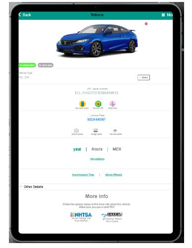 ARI vehicle management lookup ipad