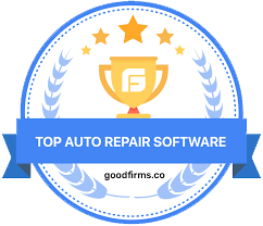 best auto repair software badge by goodfirms