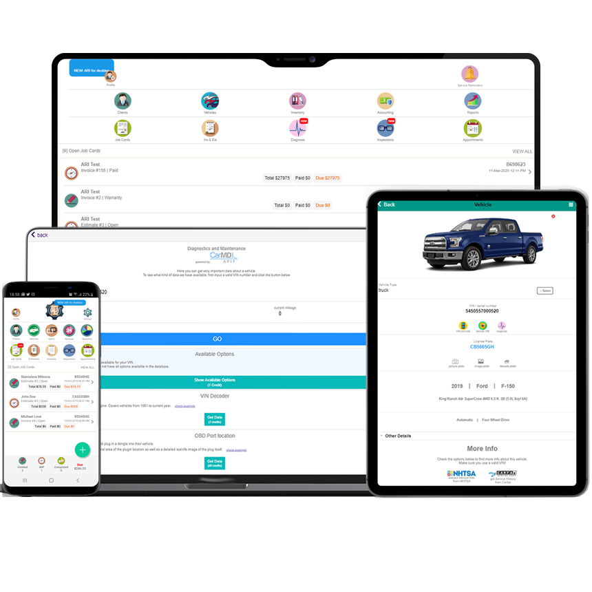 Payments, QuickBooks Auto Sync, Profit Reports and Much More in the new ARI version