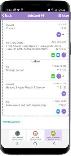this picture shows how to recommend an auto repair service