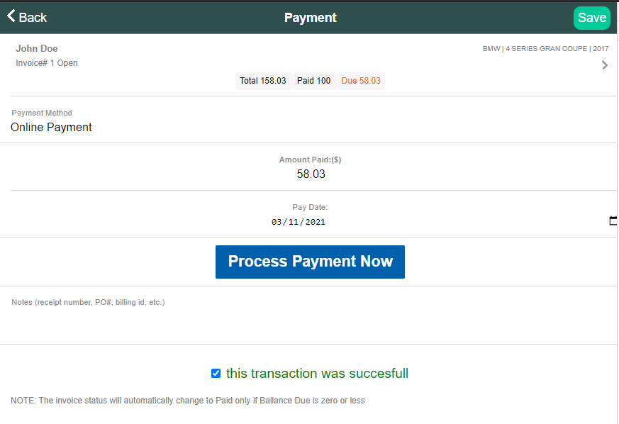 process payments with Stripe and ARI