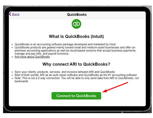 connect to quickbooks