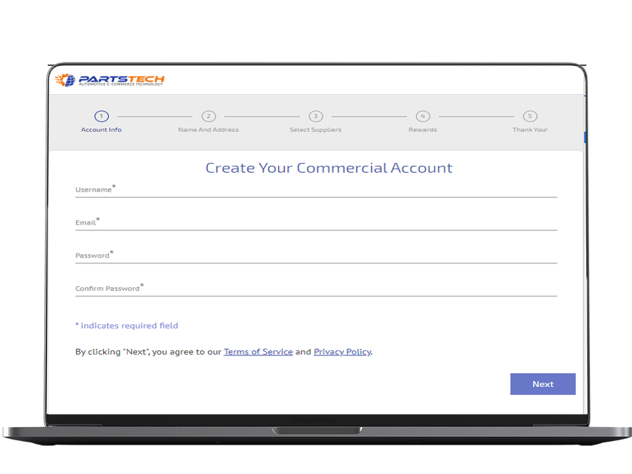create a free partsTech account