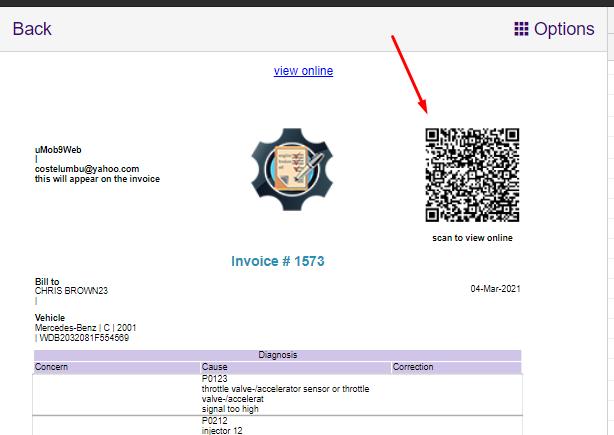 QR code on Invoice