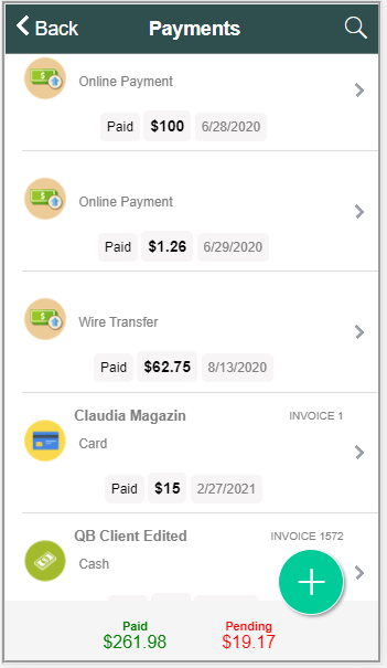 multiple partial payments