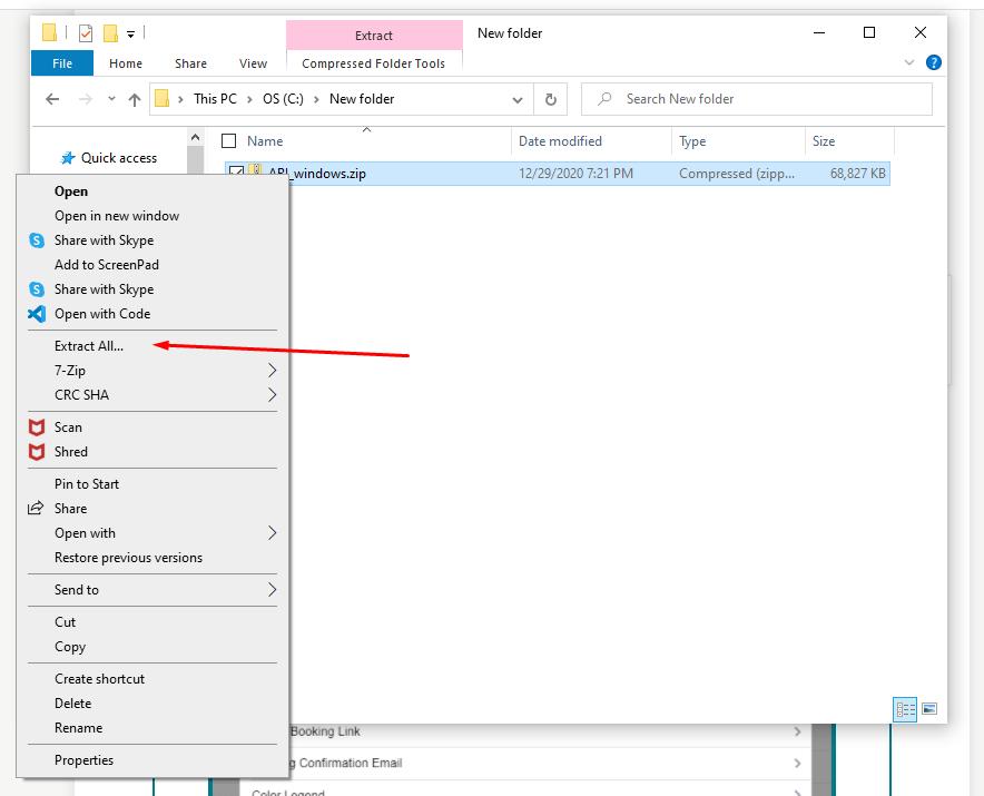 extract ARI files on Windows PC