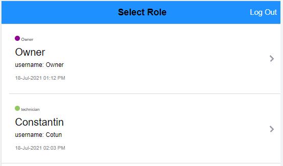 select a user and log into ARI