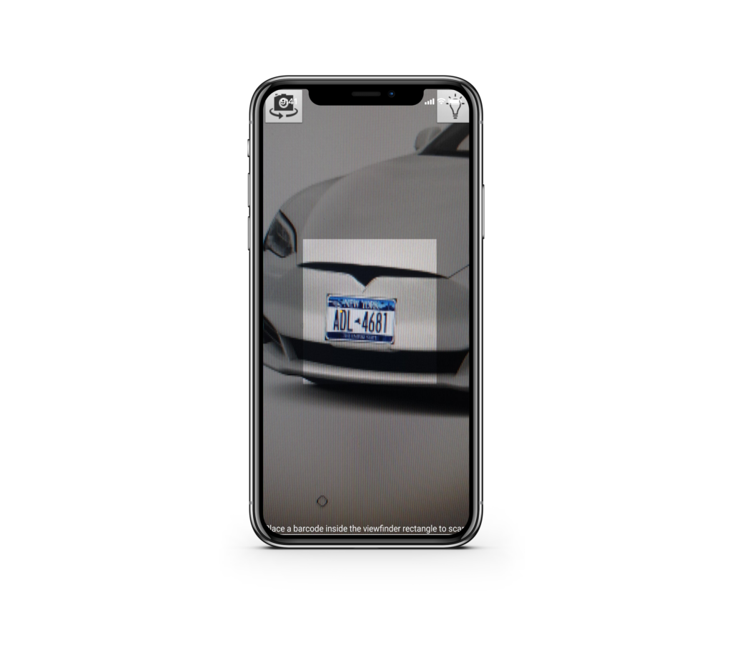 scan car license plate with iphone