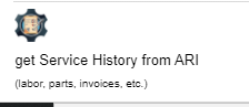 get service history from ARI