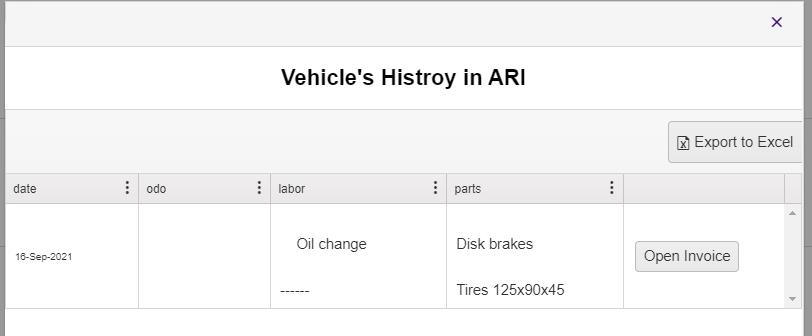 vehicle history report from ARI